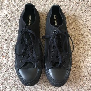 CONVERSE All Star Black Low Top Sneakers Size 11